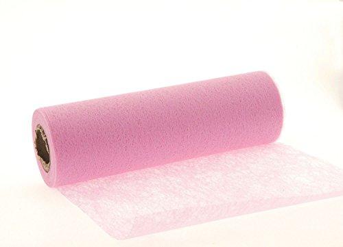 JB® 20m Tischband Tischläufer Tischvlies Vlies Vliesband Kommunion Konfirmation Tischdeko Band Dekostoff Deko Breite 23cm (rosa)