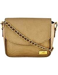 Yelloe_Golden_Synthetic Leather_sling Bag