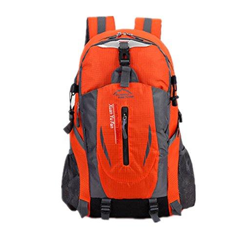 Zaino da viaggio escursionismo impermeabile sport outdoor Haoyk grande zaino Zaino, Red Orange
