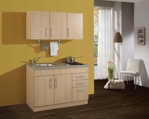Held Möbel 0 Single-Küche 120 mit 2-er Glaskeramikkochfeld