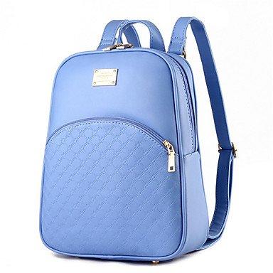 Schalen Umhängetaschen Handtaschen Mode Exquisite Rucksack Studenten Pu Leder Tasche Aquamarine