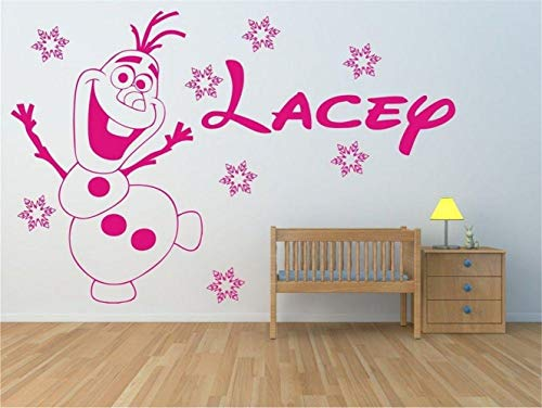 Wandtattoo Wohnzimmer Hauptdekoration Kreative Nette Olaf Baby Benutzerdefinierte Kinder Name Baby Kinderzimmer (Für Wandsticker Disney Mädchen)