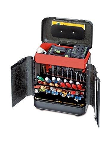 Parat Evolution Türenkoffer mit CP-7-Werkzeughaltern, schwarz/silber (Ohne Inhalt)