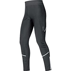 Gore Running WEAR Herren Lange Enganliegende Soft Shell Laufhose, Stretch, Gore Windstopper, Mythos 2.0 WS SO Tights, Größe S, Schwarz, TWSMYM