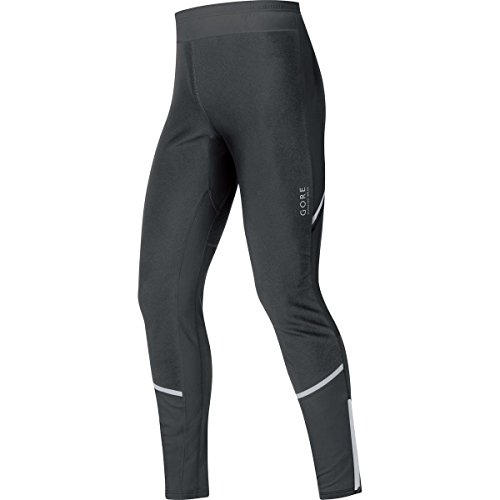 GORE RUNNING WEAR Herren Lange Enganliegende Soft Shell Laufhose, Stretch, GORE WINDSTOPPER, MYTHOS 2.0 Tights, Größe L, Schwarz, TWSMYM (Running Gore Tights)
