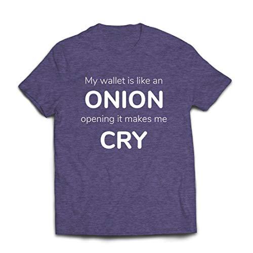 lepni.me Männer T-Shirt Meine Brieftasche ist wie eine Zwiebel, Kein Geld Lustiger Job, Büro-Humor (Large Heidekrautgrau Mehrfarben)