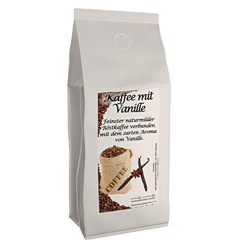 Aromakaffee - aromatisierter Kaffee Vanille, 1000 g ganze Bohnen - Spitzenkaffee - Schonend Und Frisch In Eigener Rösterei Geröstet