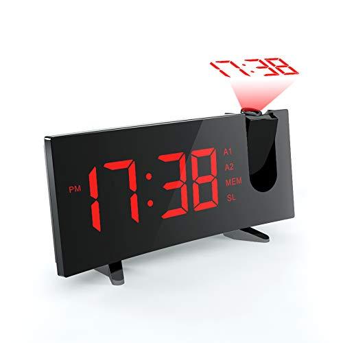[Actualizado] Mpow Reloj Despertador Digital Proyctor,Pantalla LED 5