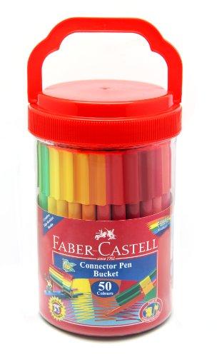 Faber-Castell Connector Pen Eimer 50 Stifte