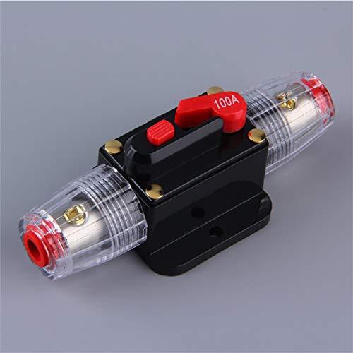 Qewmsg System Professional Protection Audio Voiture 100/80-Amp Disjoncteur à réarmement Manuel Interrupteur AGU Porte-fusible Installation Facile