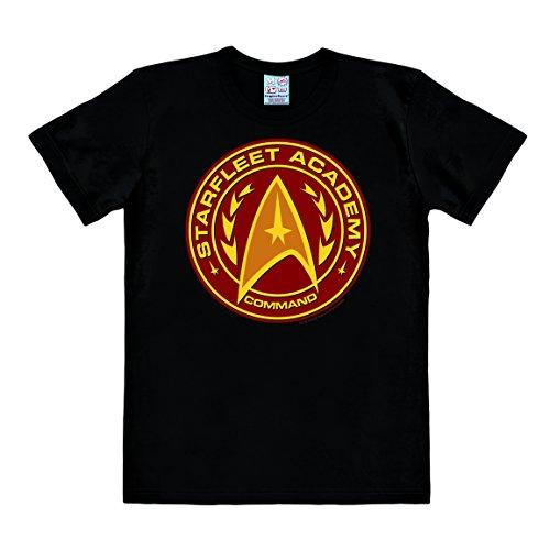 Logoshirt TV - Series - Star Trek - Starfleet - Academy - Short Sleeve T-Shirt Men - Black - Licensed Original Design