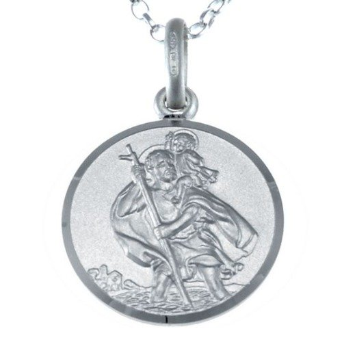 reversible-sterling-silver-st-christopher-pendant-necklace-with-18-chain-jewellery-gift-box-16mm