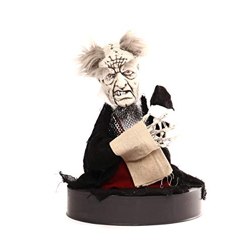 alloween Zombie Butler ca.36 cm mit Animation Party Deko Halloween-Party Batteriebetrieben 3X AA 1,5 V ()