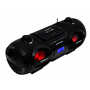 Manta MM274 Boombox (Bluetooth, CD-Player, USB, SD-Karte, FM, Disco-Light) schwarz