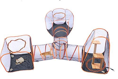 Saiyun, casetta Portatile 4 in 1 per Animali Domestici, Box per Cani e Gatti, casetta per Gabbia, Tunnel per Interni ed Esterni, Box Pieghevole Pop-up per Gatti, Cani e Animali Domestici