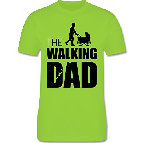 Shirtracer Vatertag - The Walking Dad - Herren T-Shirt Rundhals Hellgrün