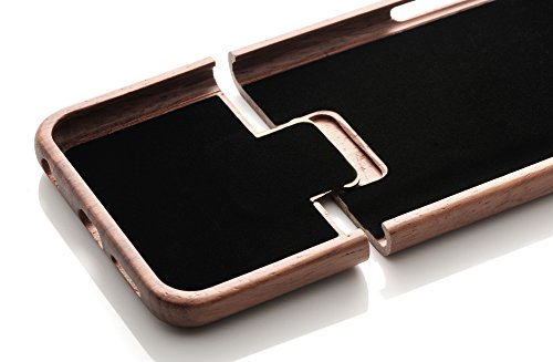 iProtect TPU Schutzhülle Apple iPhone 6 Plus, 6s Plus (5,5 Zoll) Soft Case - flexible Hülle in Holz-Design hölzern braun Walnussholz Hardcase