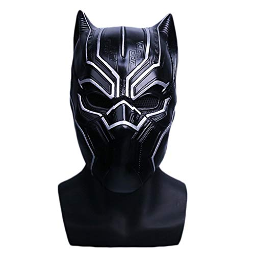 Machen Kostüm America Captain Sie Ein - Yujingc Maske des schwarzen Panthers Helm Cosplay Zubehör Kostüme Captain America 3 Marvel Movies Halloween-Helm Requisiten,PVC,63cm