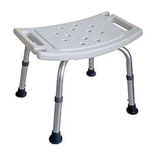 tabouret de douche hauteur r glable seniors baignoire tabouret charge maximale 120 kg. Black Bedroom Furniture Sets. Home Design Ideas