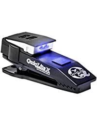 Quiqlite X Rechargeable Pocket Concealable Flashlight with Blue LED's, Black