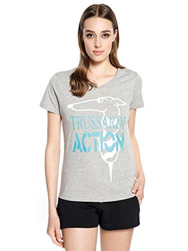 Trussardi action t-shirt donna, xxl, grigio
