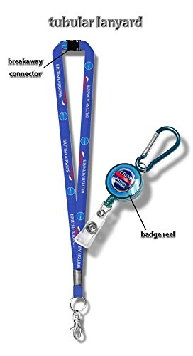 british-airways-tubular-lanyard-badge-reel