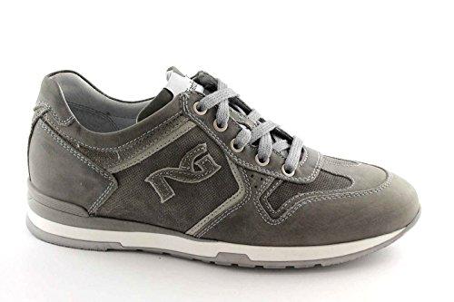 BLACK JARDINS 4031 gris lacets des chaussures de sport homme en cuir Grigio