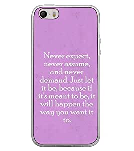 Fuson Designer Back Case Cover for Apple iPhone 5 (because if its meant to be will)