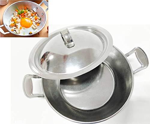 IEURA Schüssel Koch Pfanne mit Deckel Edelstahl Kleine Bratpfanne Eierpfanne für beste Omeletpfanne Kochset Mini Eierpfanne (8-zoll-kuchen Pan Set Von 2)