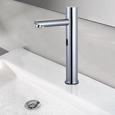 BiuTeFang Waschbecken Mischbatterie Waschbecken Armaturen Touch/Touchless Seifenspender Messing Chrom Badezimmer Wasserhahn (Seifenspender In-schalter)