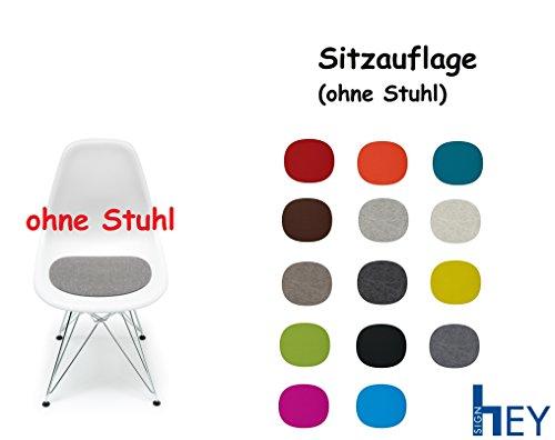 HEY-SIGN Sitzauflage Sitzkissen Filz für Vitra Stuhl Eames Plastic Side Chair, Antirutsch, 5 mm + Dress Schmuck Organizer (Deep Water)