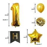 Globos-Cumpleaos-Happy-Birthday-Suministros-y-Decoracin-por-Belle-Vous-Globo-Grande-de-Aluminio-Decoracin-Globos-De-Ltex-Dorado-Blanco-y-Negro-Apto-para-Todos-los-Adultos