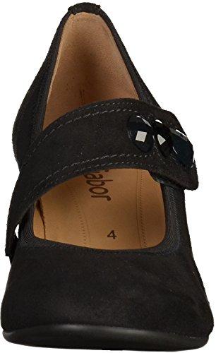GABOR - Damen Spangenpumps - Schwarz Schuhe in Übergrößen Schwarz