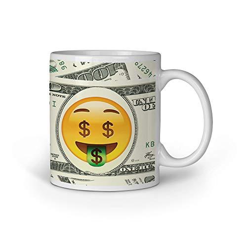 Tasse Tassen Kaffeebecher Kaffeetasse Becher Bedruckt Spruch Coole Motiv Geschenk Emoji Money Geld...