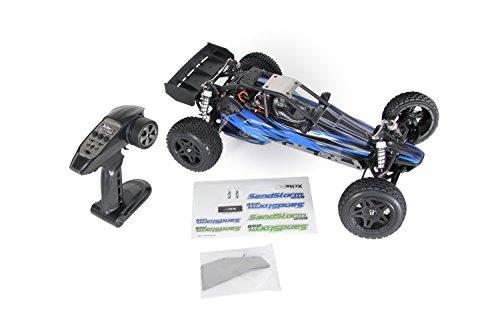 RC Auto kaufen Buggy Bild 3: XciteRC 30205000 - Ferngesteuertes RC Auto SandStorm one8 - 2WD RTR Dune Buggy Brushed Modellauto, blau*