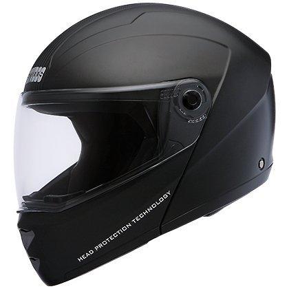 Studds Ninja Elite Flip Up Trendy Helmet for Men and Women, Black (L - 58 Cms)