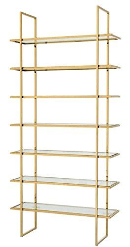 Casa Padrino Luxus Regalschrank Gold 120,5 x 40 x H. 253 cm - Luxus Möbel