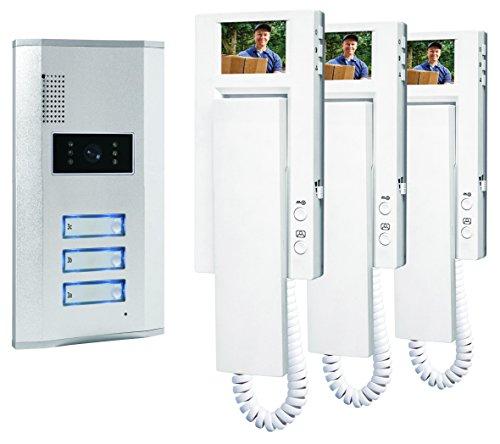 Smartwares VD63 SW Video-Türgegensprechanlage für 3 Teilnehmer