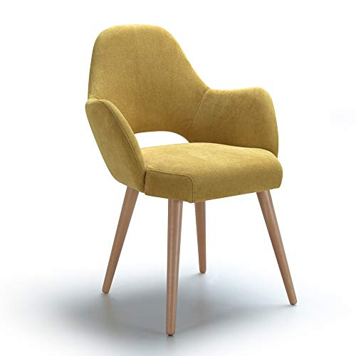 Alkove, sedia decorativa modello Andre, colore giallo