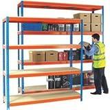 Heavy Duty Painted Additional Shelf 1500x750mm Orange/Zinc 378854 preiswert