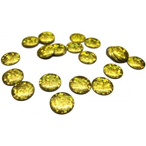 5 mm hierro-en Holo oro redondo del grano del perno prisionero del Nailhead revisión Gem