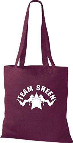 Shirtinstyle Stoffbeutel Due E Mezzo Uomo Charly Sheen Lucentezza Squadra, Diversi Borgogna Farbe