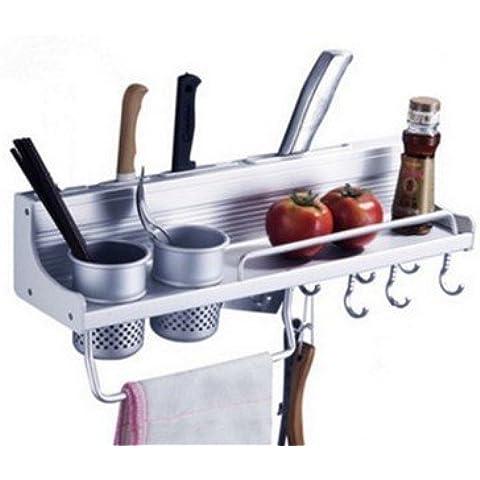 5-LIU-Guide laterali di alluminio di spazio lega titolare rack di stoccaggio cucina multifunzionale portaspezie