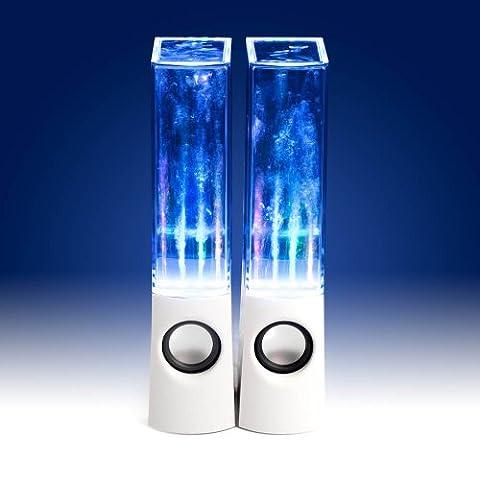 Enceinte PC / Stations MP3 Jet d'eau et LED RMS (Blanc)
