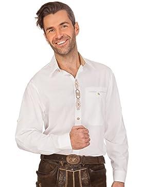 Trachtenhemd mit Langem Arm - Kurt - Weiß