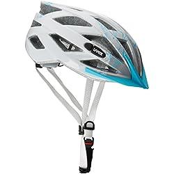Uvex Air Wing - Casco de ciclismo unisex, color azul claro / plata, talla 52-57