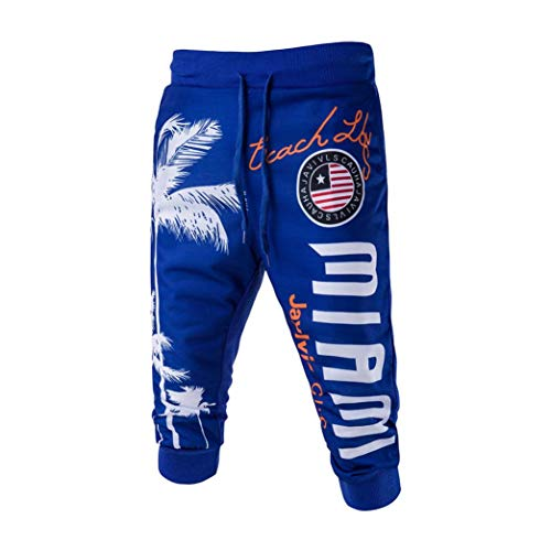 Hombres Short Pantalones,ZARLLE 2018 Pantalones Sueltos De Hip-Hop Pantalones De Playa para...