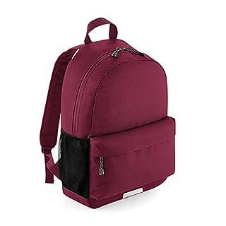 AGX Bedruckbarer Uni- oder Schulrucksack mit Reflektierenden Details für bessere Sichtbarkeit, 31 x 45 x 19 cm (Burgundy)