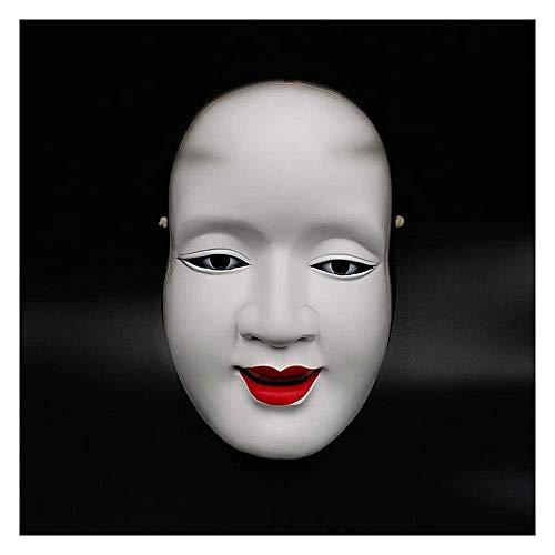 YaPin Halloween Japanisch NOH Drama, Sun Jilang Harz Dekoration Maske Horror Erwachsene Prajna Maske Requisiten