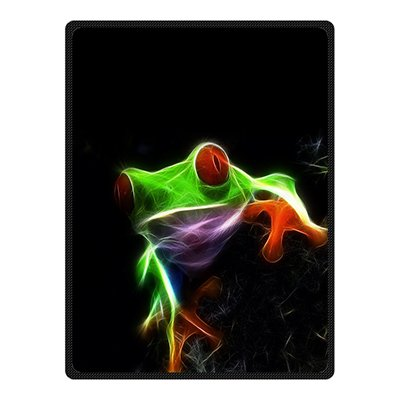 dalliy-custom-frog-animal-fleece-cozy-blanket-58-x-80-inches